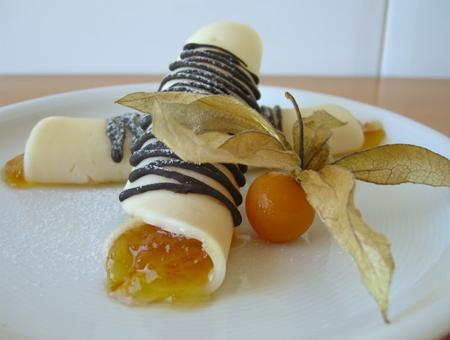 Rotlle provlone amb taronja
