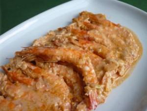 Llagostins-gratinats-amb-salsa-romesco