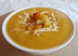 crema de carbassa amb poma i formatge_postin